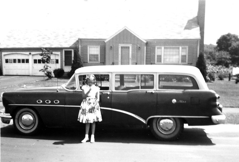 Penny in front of her home in Glastonbury, Connecticut<br /> August, 1961