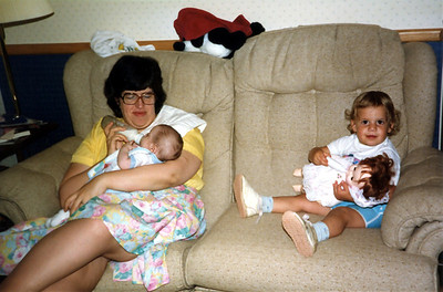 Feeding their babies. 1987