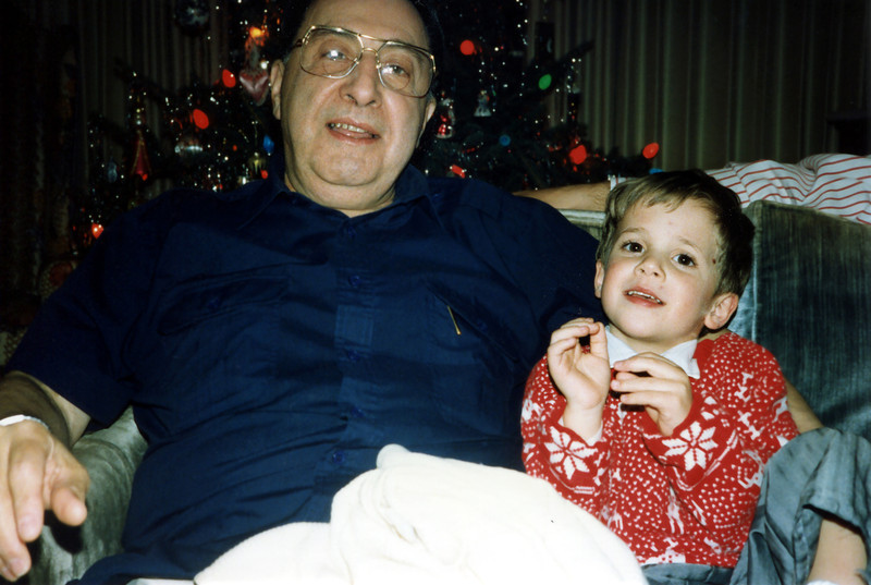 Grandpa Bill & Tristan. Christmas 1991