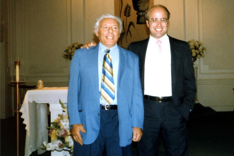 Nick DeVita and Richard. 1985 Katie's Baptism.