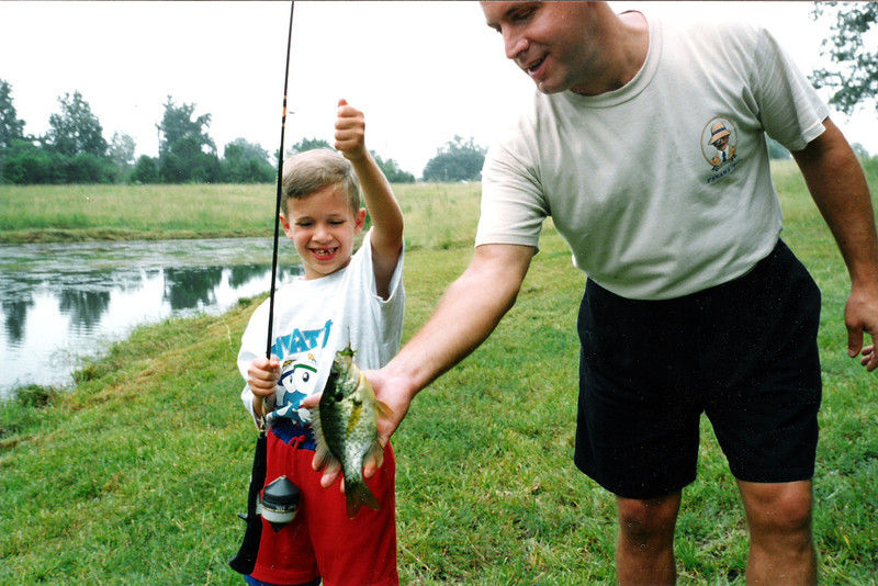 Tristan's 1st fish with the help of Uncle Bill and his pond. Lancaster, SC.