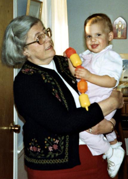 Grandma & Katie. 1986