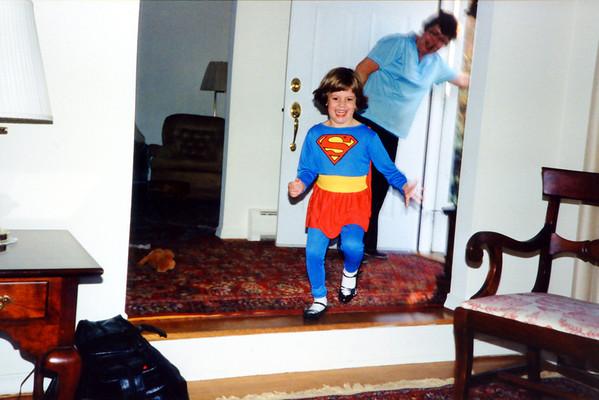 Supergirl visits Grandma & Grandpa.