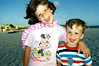 Katie & Tristan on the beach at John's Pass, Maderia Beach, Florida.<br /> ©1990 Thomas Stanziale. All rights reserved.