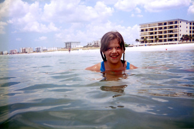 Katie in the water at Maderia Beach, FL