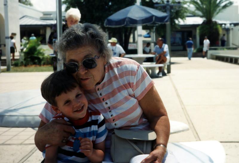 Aunt Marie & Tristan. 1990