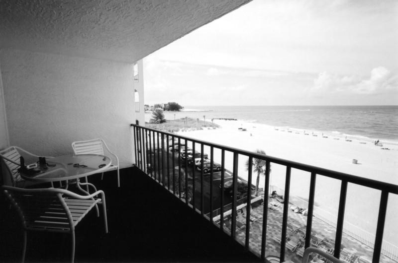 A wide view of John's Pass from the balcony of Sandy Shore's. Maderia Beach, Florida<br /> ©2004 Thomas Stanziale. All rights reserved.