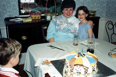 Katie & Tristan with their Godmother, Kate Liebman.