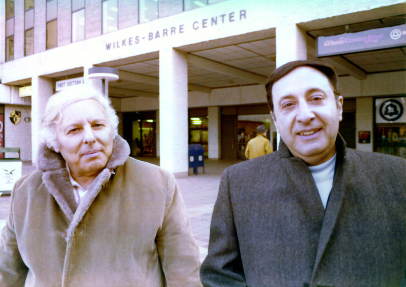 Nick DeVita & Bill Stanziale visiting Wilkes-Barre, PA. Christmas time 1975
