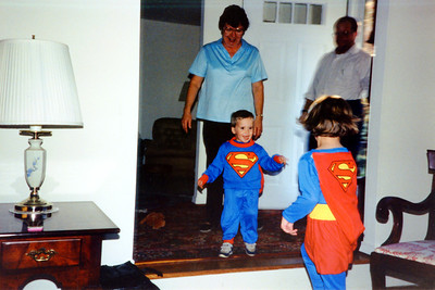 Superboy makes his enterance to Grandma's & Grandpa's.