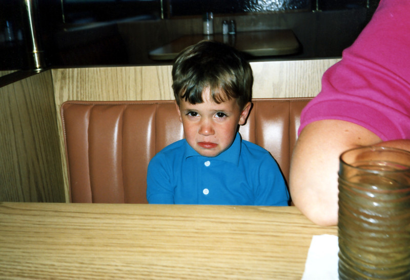 How can a little boy be sad in Florida? Tristan, Circa 1990