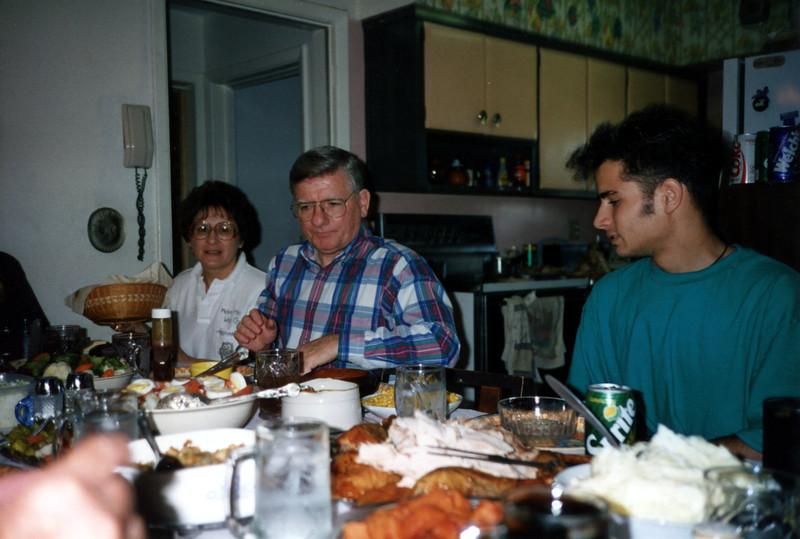 Thanksgiving Dinner - Mary Ann & Rich - 1992