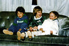 Ben Meister with Katie and Tristan. Christmas 1989. Ben is my nephew twice removed and once returned.