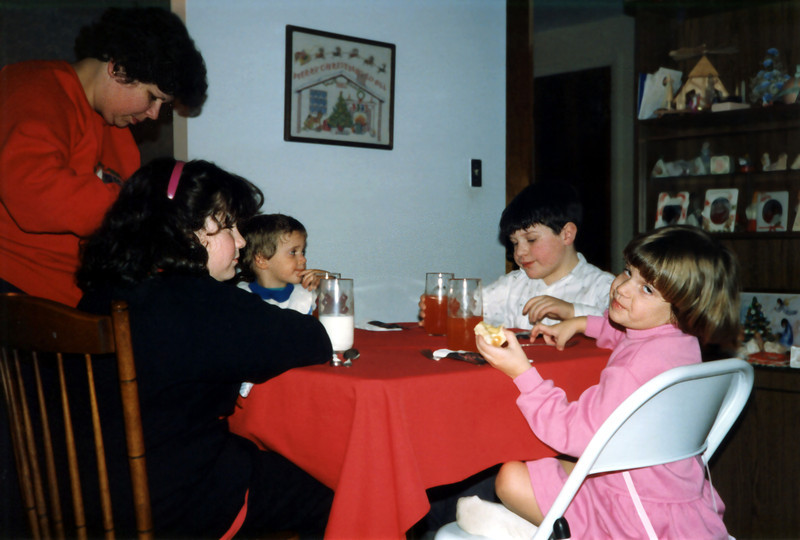 Jennifer Perl, Tristan, Matt Perl & Katie. 1989