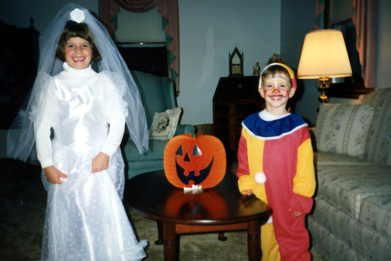 Halloween visit to Uncle Richard - 1991