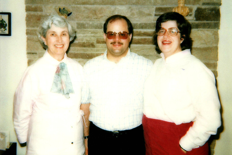 Penny's Aunt Pauline with Tom & Penny. 1984
