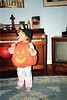 Katie the pumpkin enjoying a candy bar. 1987