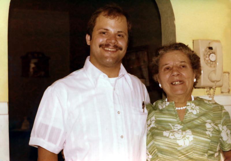 Tom with grandma. 1977.