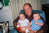 Richie (left) and Alex (right) with their Uncle Bill. 2004