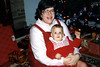 Penny & Katie. Christmas 1986