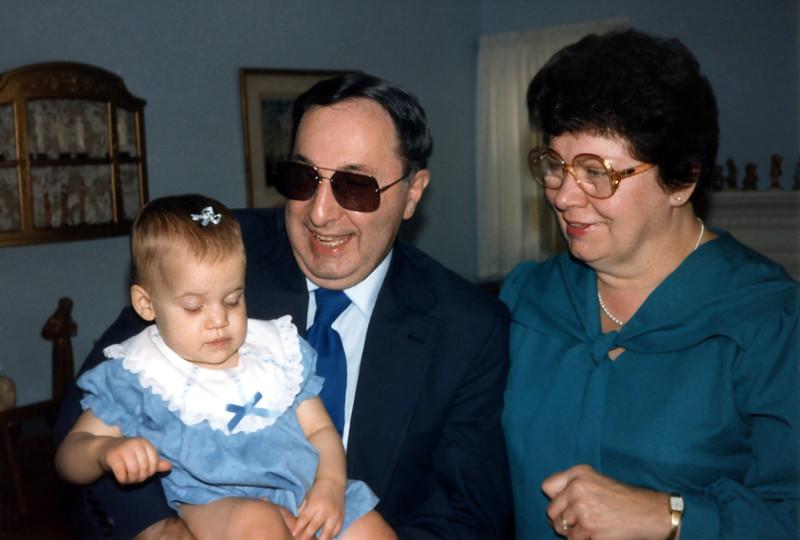 Katie with Grandpa Bill & Grandma Ann. 1986