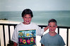 Katie & Tristan, 1992 - Maderia Beach, FL. John's Pass inlet in the background left.