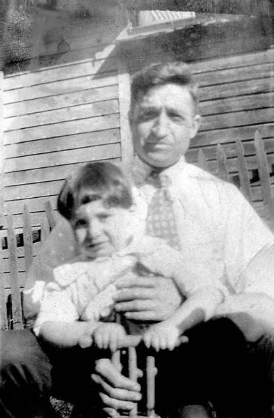 Dad with his father Carmine Stanziale (circa 1929)