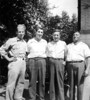 Dad with his uncle's and cousin - July 1943, prior to dad entering the army in August.