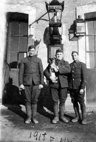 1918 France - Carmine Stanziale at right.