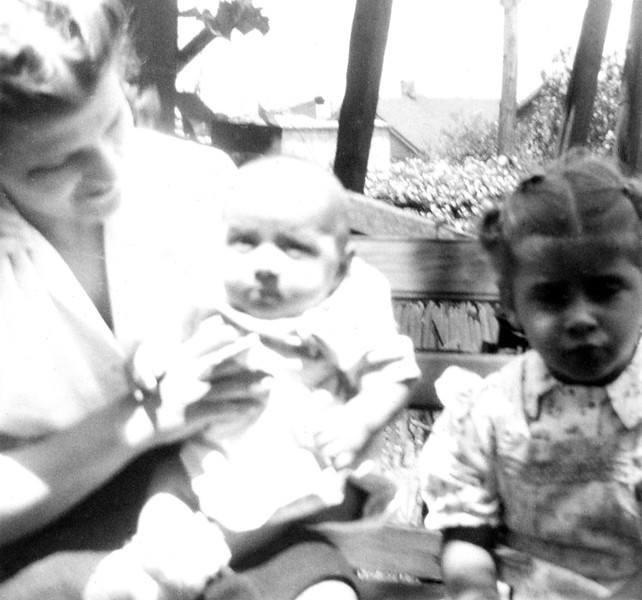 Aunt Marie with son Frank and daughter Mary Ann.