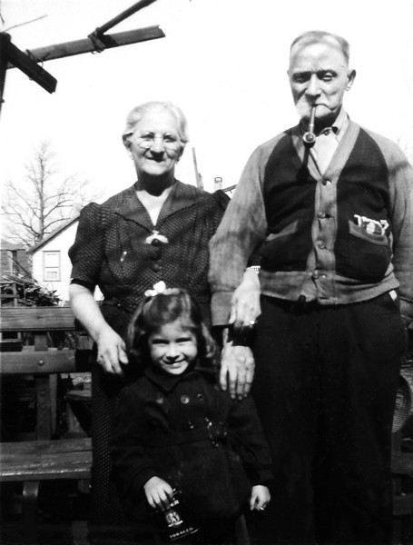 Rose & Fidele Champi with granddaughter Mary Ann. Circa 1947