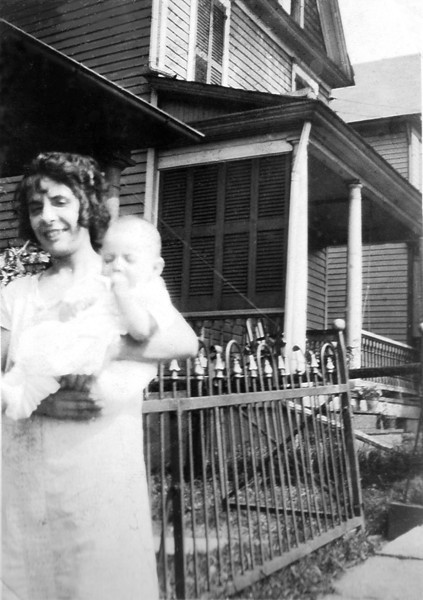 Bill Stanziale with his Aunt Lena (1925).