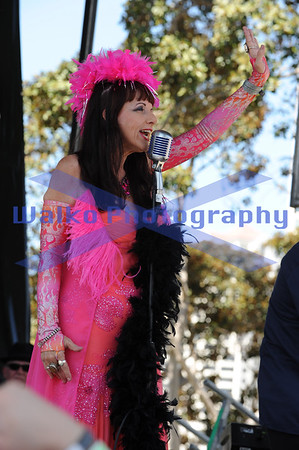 September 6, 2014; San Diego, Ca; USA;  Candye Kane performs at the San Diego Blues Festival at the San Diego Embarcadero.