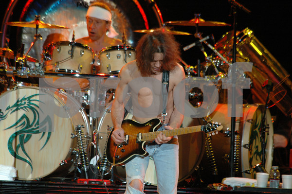 17 August 2004; San Diego, California; Van Halen performing at Viejas Concerts in the Park
