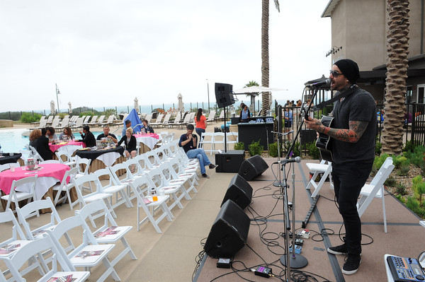June 7, 2013, Carlsbad CA; Sunset Sessions Rock Day 2 - Brand New Machine poolside at the Hilton Carlsbad Oceanfront Resort.