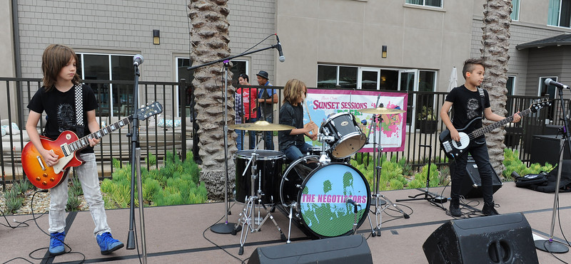 June 8, 2013, Carlsbad, CA; Sunset Sessions Rock Day 3 - The Negotiators at the Hilton Carlsbad Oceanfront Resort.