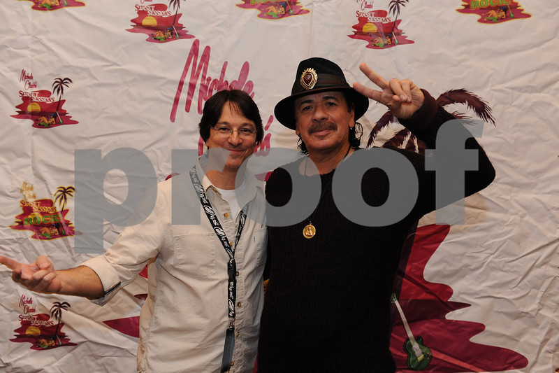 November 08, 2012, Las Vegas, Nevada, USA, Up Close and Personal with Carlos Santana at the Sunset Sessions Vegas event at the Cosmopolitan Hotel in Las Vegas Nevada.