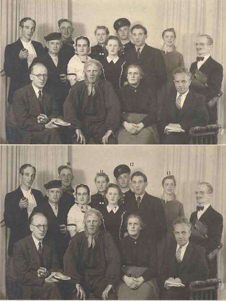 T0011    R.K.Toneelgroep St.Cæcilia:   De vier Jaargetijden, 21-09-1947<br /> <br /> 01Meneer Post<br /> 02Freek Homan jr.<br /> 03Nel Blom<br /> 04Jaap van der Wiel<br /> 05Henk Vrijburg<br /> 06Nel Koek<br /> 07Tiny van der Meij<br /> 08Hugo Zwetsloot<br /> 09Wim van der Krogt<br /> 10Cock van der Geest<br /> 11`Jacques van der Geest<br /> 12Wim Koppers<br /> 13Riet Zwaan<br /> 14Piet van de Kraan