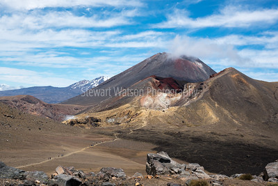 Big Volcano, small people