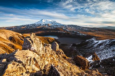Mount Ruapehu and Lower Tama Lake. Tongariro National Park