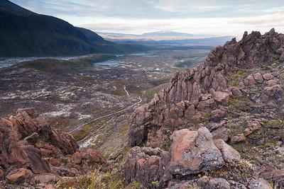 Tongariro Alpine Crossing route, Mangatepopo Valley, Tongariro National Park, Central North Island