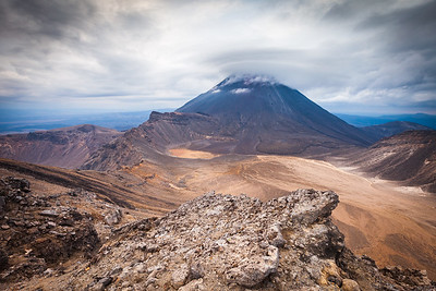 Mount Ngauruhoe and South Crater. Tongariro Alpine Crossing, Tongariro National Park, Central North Island