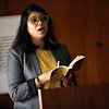 Doctoral student Nazia Manzoor reads from Beloved