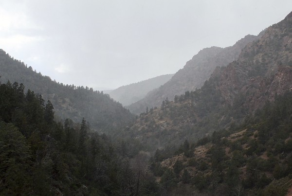 Snowstorm in Pine Creek Canyon (2018)