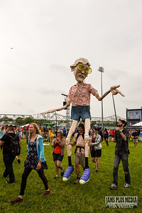 Squallis Puppeteers near the Mast Stage at Forecastle Saturday. July 18, 2014