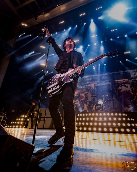 August 16, 2017, Green Day Revolution Radio Tour at the Klipsch Music Center in Indianapolis, Indiana.