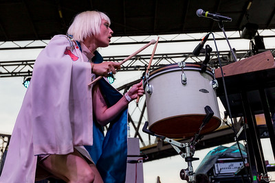 July 27, 2016 Lucius on stage at 91.9 WFKP Waterfront Wednesday in Louisville, KY. ©Vasquez Photography