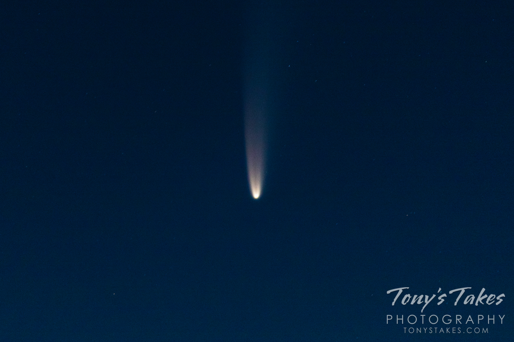 July 2020 - Comet NEOWISE in the skies over Colorado. (© Tony's Takes)