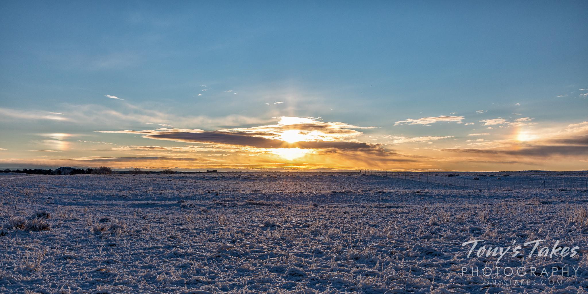 Sundog sunrise