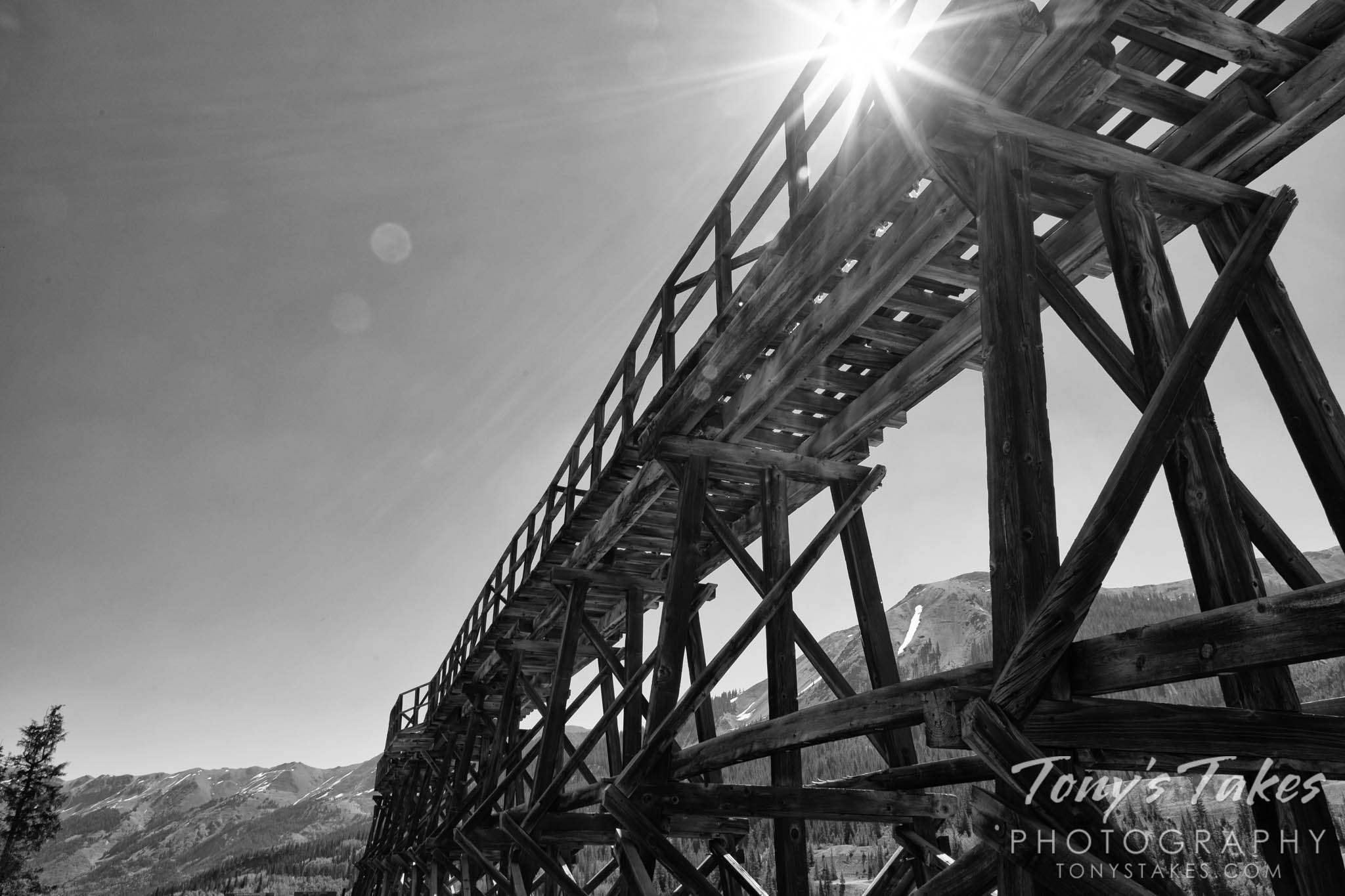 Black and white remnants of Colorado's mining history